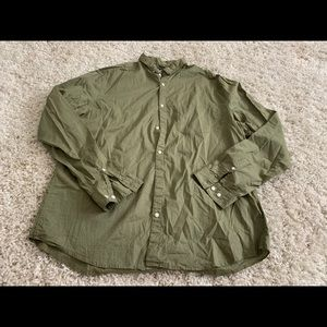 """H&M"" Army Green Button Down Top"